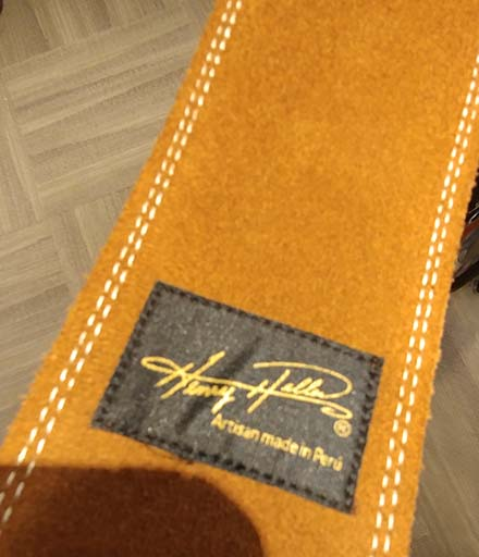 Guitar Strap Suede Backing